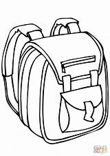 Coloring Bag Drawing Clipart Backpack Printable Outline Cliparts Transparent Dot Paper sketch template