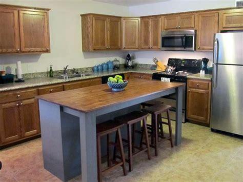 free standing kitchen islands with seating for 4 diy kitchen island from dresser live more daily