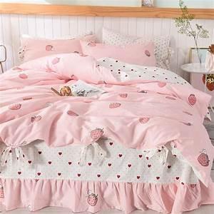 Kawaii, Strawberry, Bedding, Set, Jk1545