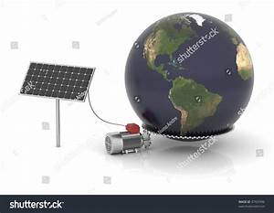 Solar Panel Produces Electrical Energy And Moves The World ...
