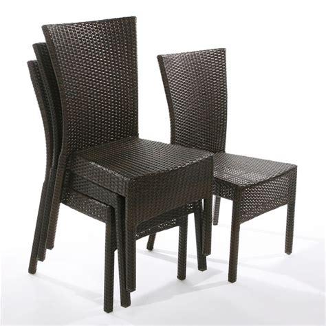 chaise de jardin en résine tressée lot de 4 chaises brighton résine tressée achat vente fauteuil jardin lot de 4 chaises
