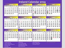 Ireland National Public Holiday Calendar 2019