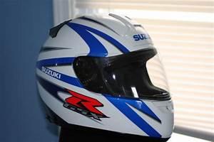 Fs  Shoei Suzuki Blue  White Helmet