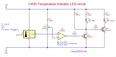 Temperature Indicator Led Circuit