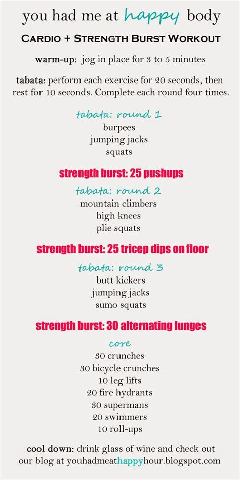 Exercise For Healthy Heart Hitt Workouts Tabata