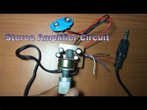 Stereo Amplifier Circuit Low Voltage