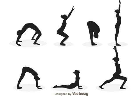 Upgrade to save unlimited icons. Yoga Girl Silhouette Vectors - Download Free Vectors ...