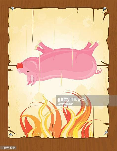 hog roast   premium high res pictures getty images