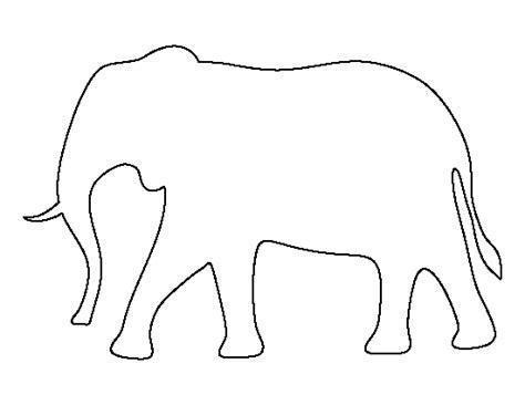 elephant template printable printable elephant template