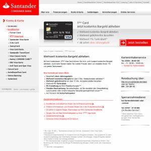 Santander Bank Kredit Erfahrungen : santander 1plus visa card aktueller test erfahrungen ~ Jslefanu.com Haus und Dekorationen