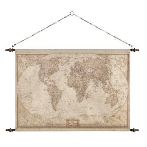 porte manteau chambre bebe déco murale carte du monde 117 x 129 cm explorateur