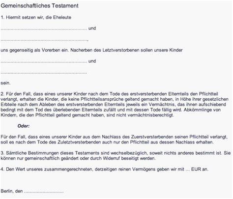berliner testament kostenlos ausdrucken beschreibung