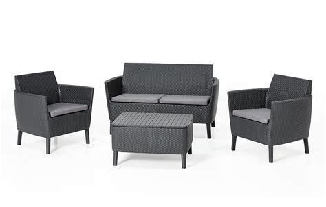 allibert salemo lounge set graphite  seater allibert