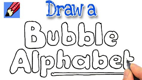 How To Draw Bubble Writing Real Easy