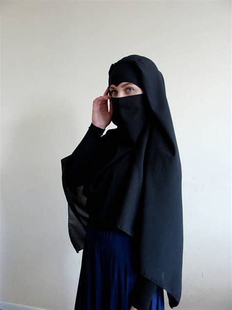 The Traditional Black Burka But A Beautiful Elegant