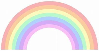 Pastel Rainbow Clipart Transparent Cliparts Clip Pencil