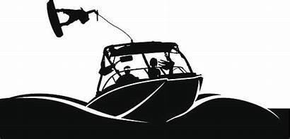 Clipart Boat Ski Wake Vector Boarding Clip
