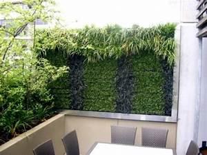 garten moy ideen sichtschutz beton bambus zaun With katzennetz balkon mit garden gadgets