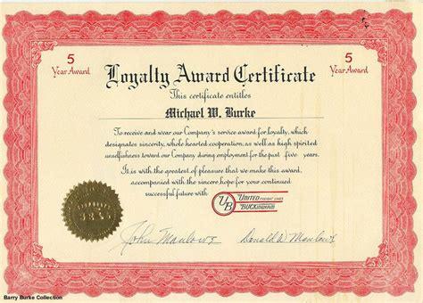 loyalty award certificate template