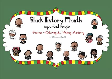 the constant kindergartener teaching ideas and resources 432 | BlackHistoryMonthImportantPeoplePostersColoringandWritingFREEBIE 001