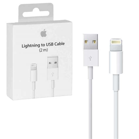 kabel charger apple lightning to usb cable 2m length retail packed