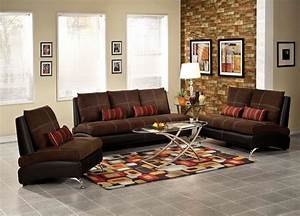 Jolie chocolate and black sofa set shop for affordable for Stratford home pillows living room furniture