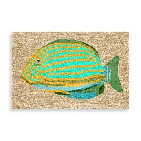 Fish Doormat by Trans Frontporch Striped Fish Door Mat
