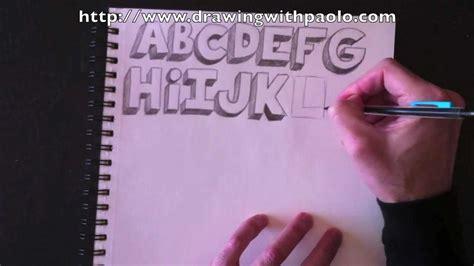 Comment Dessiner Une En 3d by Comment Dessiner Des Lettre En 3d