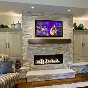 20, Amazing, Fireplaces, With, Tv, Above