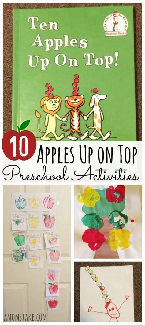 10 Apples Up on Top Preschool Activities - A Mom's Take