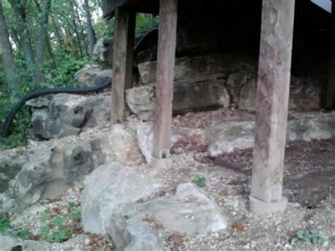 deck post piers   boulder retaining wall doityourself