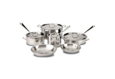 clad  piece stainless cookware set