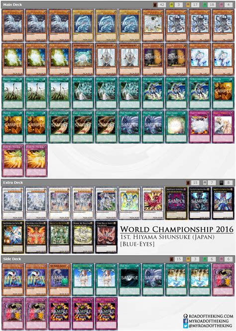 World Chionship Decks by Yu Gi Oh World Chionship 2016 Decks Road Of The King