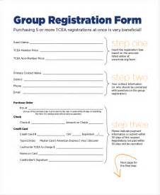 Sample Event Registration Form Template