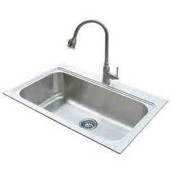 kitchen sinks faucets shop american standard 22 in x 33 in silver single basin stainless steel drop in or undermount