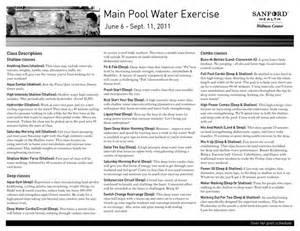 Printable Water Aerobic Exercise Routine