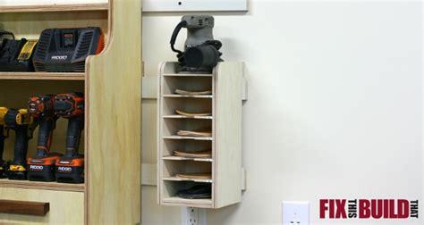 sandpaper disc storage rack fixthisbuildthat