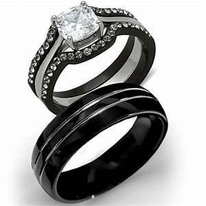Gallery Tungsten Wedding Sets For Him And Her