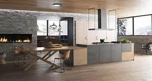 10 cuisines ouvertes sur le salon a l39amenagement deco With idee deco cuisine avec deco scandinave salon