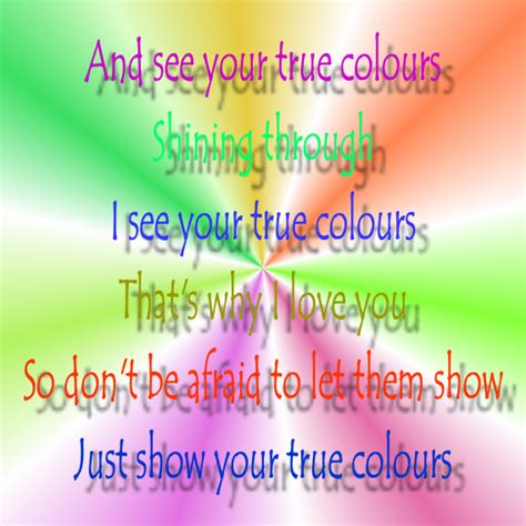 song true colors song lyric quotes in text image true colors phil