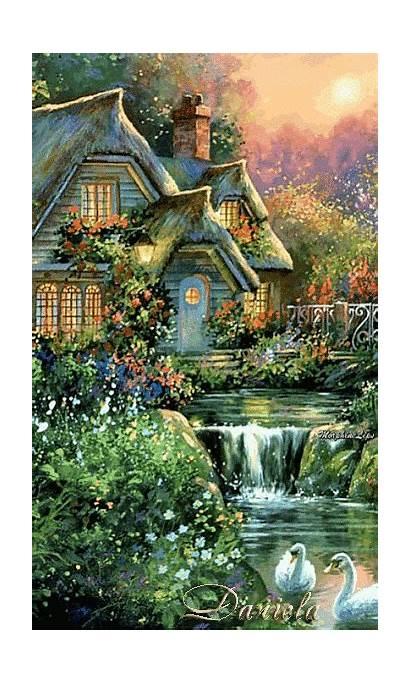 Kinkade Paintings Landscapes Thomas