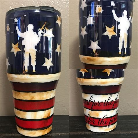 American flag tumbler svg, 4th of july tumbler, cricut file, silhouette, instant download. Distressed American flag stainless tumbler, american flag ...