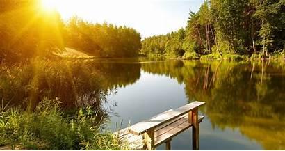 Lake River Landscape Forest 4k Wallpapers Waldsee