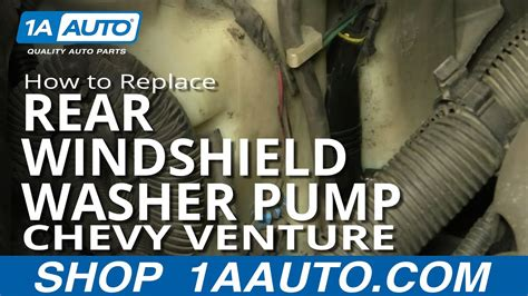 replace rear windshield washer pump   chevy