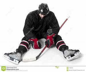 Ice Hockey Player Looking Disappointed Stock Photo - Image ...