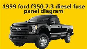 1999 Ford F350 7 3 Diesel Fuse Panel Diagram