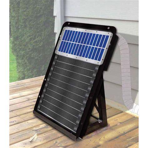 solar powered heat l using a solar garage heater modernize