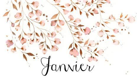 repeindre un bureau calendrier à télécharger pour un mois de janvier fleuri