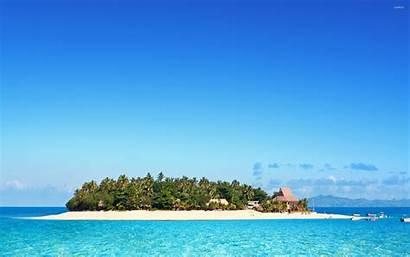 Fiji Wallpapers Sky Clear Island Resort Beach