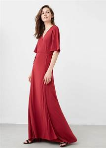 robe rouge longue mango cache coeur tres fluide la robe With robe cache coeur mango